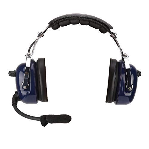 Aviation Headset, Pilotenkopfhörer für die allgemeine Luftfahrt, Luftfahrtkopfhörer, 3,5-mm-Headset zur Geräuschreduzierung für Piloten