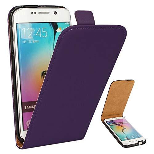 Roar Handy Hülle für Samsung Galaxy S5 / S5 Neo Handyhülle Violett, Flipcase Schutzhülle Tasche für Samsung Galaxy S5 / S5 Neo, PU Lederhülle mit Magnetverschluß