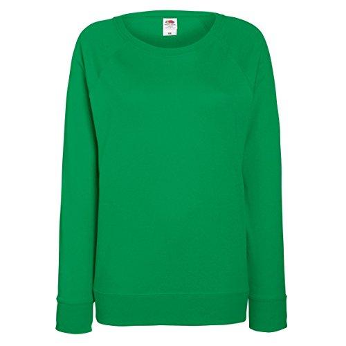 Fruit of the Loom Ladies Fitted Lightweight Raglan Sweatshirt (240 GSM) (M)...