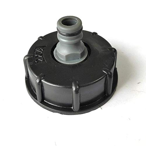 """SALAKA IBC Tanque Adaptador de latón 1PC + 60mm plástico Enchufe de conexión rápida niple y Anillos de 1/2""""para IBC Tanque de Piezas"""