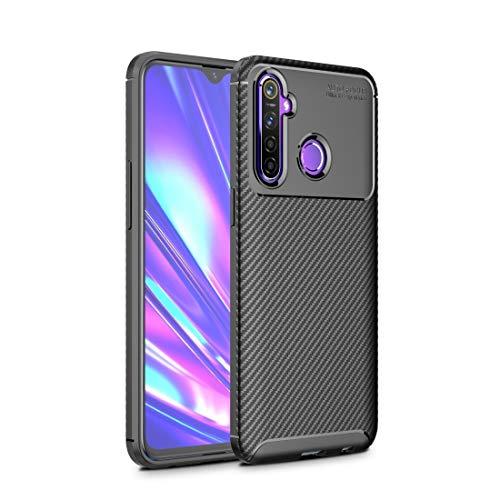 YANTAIAN Casos Protectores móviles por 8 Caso de Fibra de Carbono Textura de Golpes TPU Xiaomi redmi Nota (Color : Black)