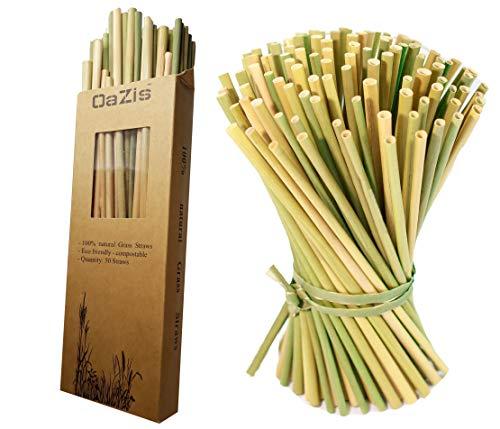 Gras Strohhalme | Bio Wiederverwendbar Strohhalme aus Gras Natürliche Nachhaltige Alternative zu Papierstrohhalmen, Weizen, Stroh, Edelstahl, Metal, Glas, Bambus, umweltfreundlich, kompostierbar