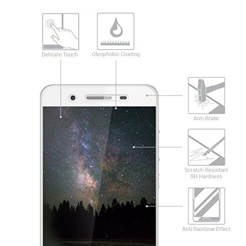 kwmobile Huawei GR3 / P8 Lite SMART Folie - Glas Handy Schutzfolie für Huawei GR3 / P8 Lite SMART - Full Screen Display Schutz - 2