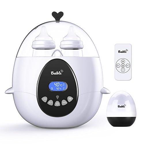Bable Multifunktionale Flaschenwärmer Baby mit Fernbedienung丨Sterilisator für Babyflaschen丨Babykostwärmer LCD-Anzeige von Echtzeit und Zieltemperatur