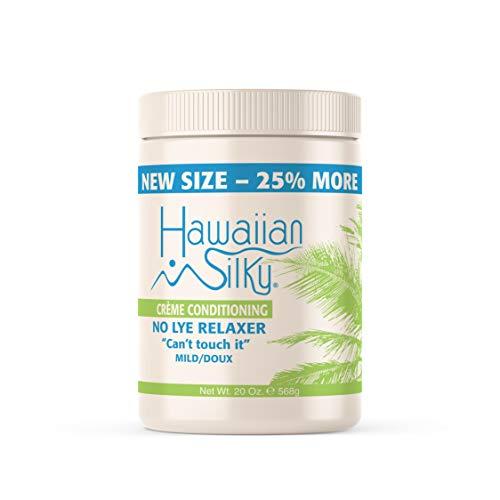 Hawaiian Silky no lye relaxer, mild, Beige, 20 Ounce
