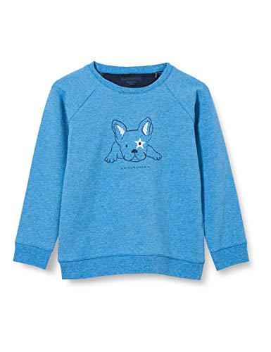 bellybutton Baby-Jungen Sweatshirt T-Shirt, Hydra Melange|Blue, 86