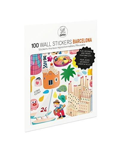 OMY Planches de 100 Stickers repositionnables -pour créer la ville de Barcelone