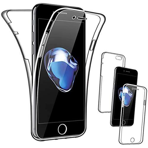 NewTop Cover Compatibile per iPhone 7/8/SE 2020/7 Plus/8 Plus, Custodia Crystal Case TPU PC Protezione 360° Fronte Retro (per iPhone 7-8 - SE 2020)