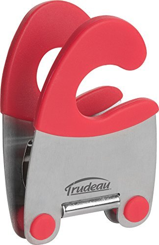 Trudeau Maison - Clip para resto, acero inoxidable, color rojo
