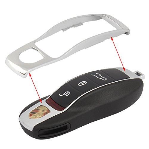 TOMALL Silber Middle Cover für PORSCHE Schlüssel Ersatz Case Cayenne Panamera Macan 911