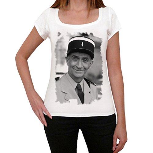 One in the City Louis De Funes, tshirt damen weiß, tshirt mit bild damen, geschenke tshirt