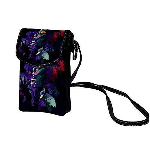 Xingruyun Bolso de teléfono móvil para Mujer Cuadro Mujer Cantante Mini Bolso de teléfono Celular Monedero doble de Cuero con ranura para tarjeta de crédito 19x12x2cm