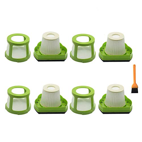EZ SPARES Replacements for Bisel,1782 Filter Hepa,Pet Hair Eraser Cordless Hand And Car Vacuum Attachment,Part #1608653(4Filters + 4Mesh Frame)