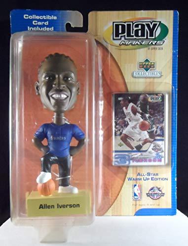 Upper Deck Philadelphia 76ers star #3 Allen Iverson ufficiale NBA Playmakers Bobble set di carte Bobblehead