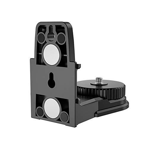 Livello laser autolivellante 3D a croce, adattatore livello laser con staffa magnetica, supporto per montaggio a soffitto con staffa a livello di supporto regolabile con rotazione di 360 gradi