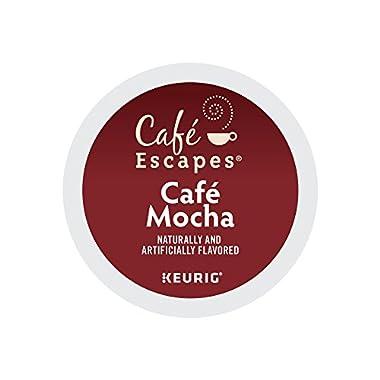 Cafe Escapes Cafe Mocha Keurig Single-Serve K-Cup Pods, 0.52 Oz, 24 Count