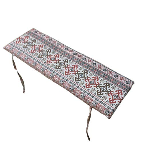 AISHANG Outdoor Bench Cushion Pad Soft Garden Cushion Removable Replacement Pad Long Chair Mat, for Travel, Swing, Indoor 2 or 3 Seater (Style 1,120x30cm)