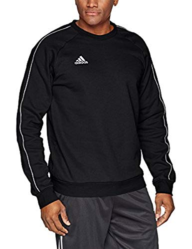 adidas Core18 Sweat Top, Felpa Uomo, Nero (Black/White), M