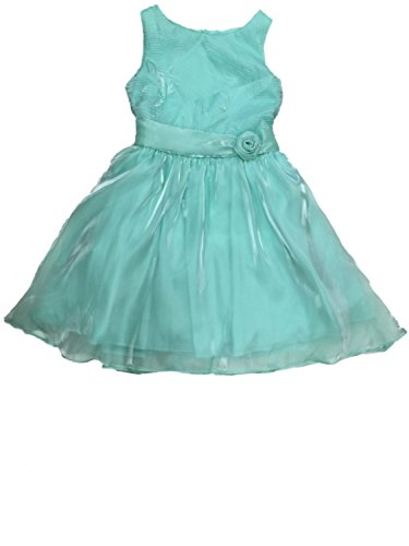 Amy's Closet Big Girls Turqouise Organza Tank Top Holiday Party Flower Girl Dress 16