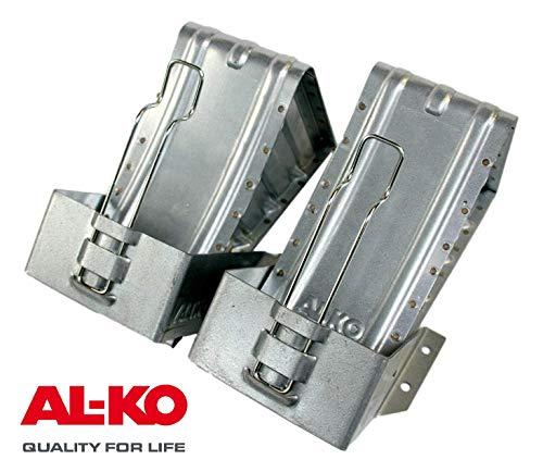 p4U AL-KO Unterlegkeile + Halter Paar Hemmschuh verzinkt 1600 kg 120mm breit UK 36 Alko 243.373 244373 244.376 244376