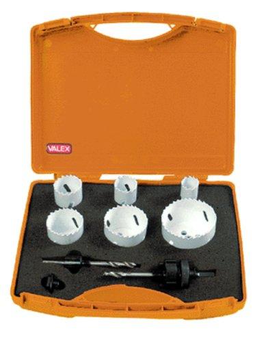 Seghe a tazza serie da 9 pezzi acciaio HSS Bimeta. Valex