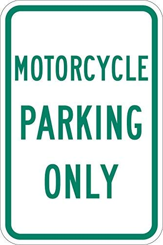 cwb2jcwb2jcwb2j hoge intensiteit kwaliteit reflecterend teken, legende motorfiets parkeren alleen, 18