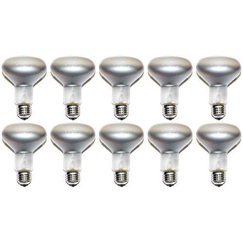 R80 Glühbirne/Reflektorlampe (100W, 240V Lampe 100Watt, dimmbar, hochwertige Edison-Schraube, E27Leuchtmittel, Vorteilspack) 10 Stück