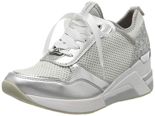 TOM TAILOR Damen 8091502 Sneaker, Grau (Grey 00011), 38 EU