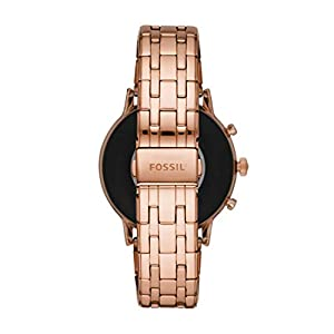 Fossil Gen 5 Julianna HR Heart Rate Stainless Steel Touchscreen Smartwatch, Color: Rose Gold (Model: FTW6035)