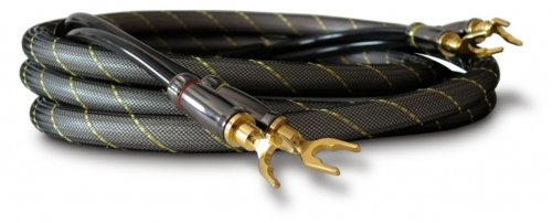 Dynavox High-End Lautspecherkabel, Paar, Flexibles Kabel mit hochwertigen Bananensteckern, konfektioniert, Farbe schwarz, Länge 1,5m
