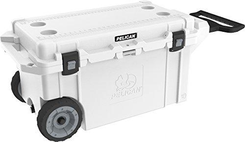 Product Image 1: Pelican Elite 80 Quart Wheeled Cooler (White)