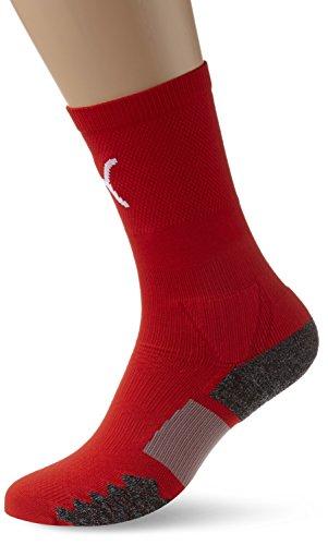 PUMA Erwachsene Match Crew Socks, red-White, 1
