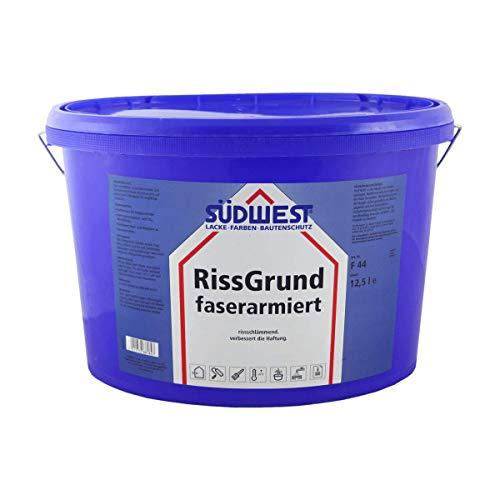 Südwest RissGrund faserarmiert Fassadenfarbe weiss 12,5 Liter
