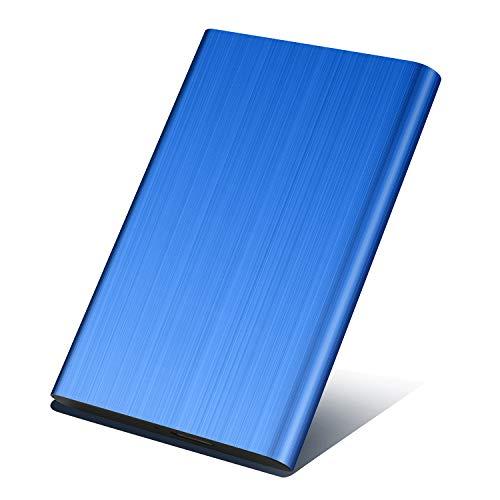 Prode Disco Duro Externo Portátil 2.5' USB3.0 SATA HDD Almacenamiento para PC y Mac Xbox One (1 TB, Azul)