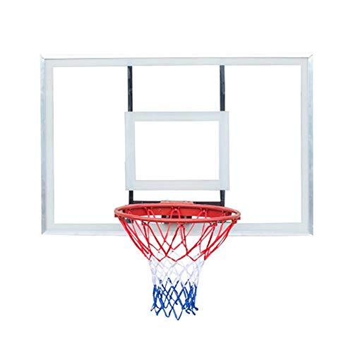 SUON Basketballständer Große Größe Jugendliche Basketballkorb An Der Wand Montiert DREI Schritte Layup Erwachsene Draussen Bewegung Basketballbrett 120x81cm