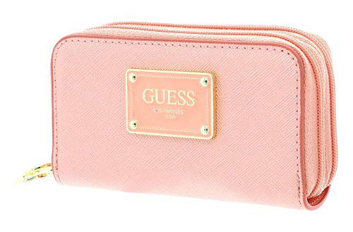 Guess Bahia Double Mini Zip Wallet Peach