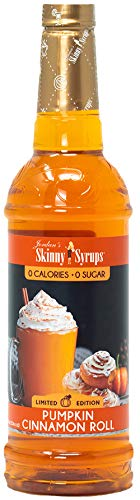 Jordan's Skinny Mixes Jordan's Skinny Syrups | Sugar Free  Pumpkin Cinnamon Roll | Healthy Flavors with 0 Calories, 0 Sugar, 0 Carbs | Keto-Friendly, Gluten Free & Kosher | 750 ml