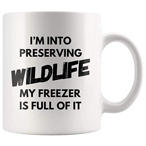 Hunting Mug - I'm Into Preserving Wildlife My Freezer Is Full Of It Coffee Mug 11 oz - Funny Dad Hunting Gifts - Hunter Birthday Mug