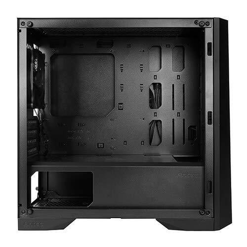 Antec Dapper Dark Phantom DP301M Black Steel /ARGB Lighting/Tempered Glass Side Panel Compact Micro-ATX Gaming Case