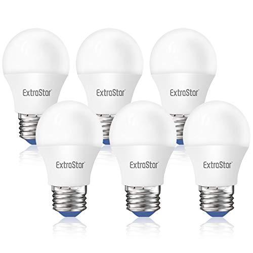 ExtraStar E27 Bombillas LED Globo G45 Casquillo Gordo, 6W Equivalente a 48W, 480lm, Luz Fría 6500K, No regulable, Pack de 6 Unidades