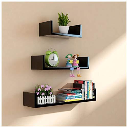 Chici Wandrek, 3-delige set, U-vorm, drijvende planken, 60/45 / 30 cm, MDF, verschillende maten om op te hangen