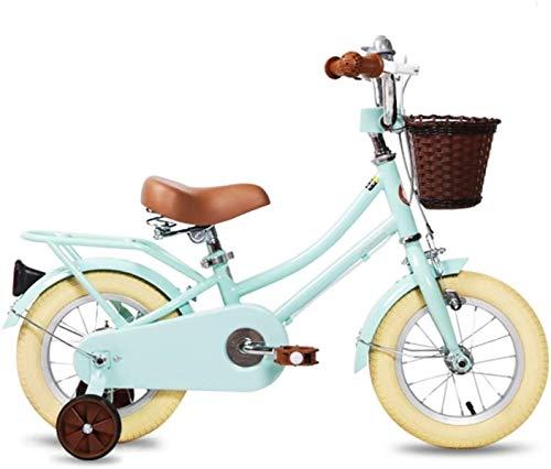 Bicicletas Bicicletas para niños, Bicicleta para niños 12 pulgadas Boy Boy Scooter Menta Verde Nueva Bicicleta 2-8 Años Niño Niño Al Aire Libre Bicicleta Deportes Bicicleta (Color: Verde, Tamaño: 12in