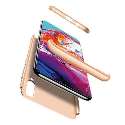 FHXD Hoesje voor Samsung Galaxy A80 Schokbestendige 360° Beschermhoes [Screen Protector] Mat Ultradunne PC Harde Schaal Telefoonhoes Krasbestendig 3 in 1 Cover Case-Gouden