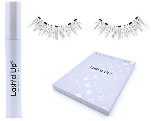 Lash'd Up ® Eyeliner Magnétique & Cils Magnétiques Naturels 3x Plus Forte Volume Russe Réutilisable 5 Aimants 3D Waterproof (Simplement Naturel)