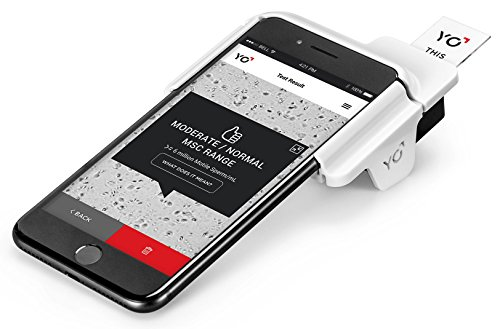 YO Home Sperm Test for Apple iPhone | Includes 2 Tests | Men's Motile Sperm Fertility Test | Check Moving Sperm and Record Video | Apple iPhone (8+)