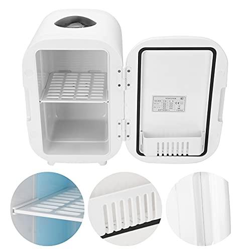 01 Refrigerador de 6 litros, Mini refrigerador de refrigeración y calefacción para el hogar para Viajes(Black, Pink)