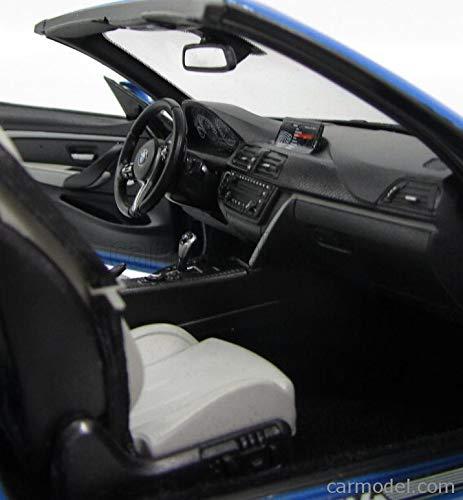 BMW M4 Convertible, metallic-blue, 2015, Model Car, Ready-made, I-Paragon 1:18