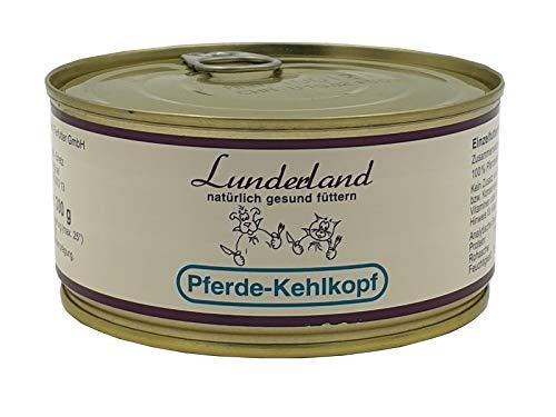 Lunderland Pferdekehlkopf 5 x 300g Dosen (insg. 1,5kg), Einzelfuttermittel für Hunde und Katzen
