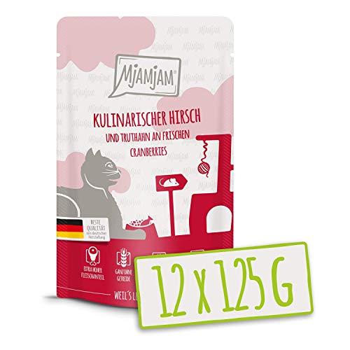 MjAMjAM Quetschie - kulinarischer Hirsch und Truthahn an frischen Cranberries 12x125 g, 1er Pack (1 x 1500 g)