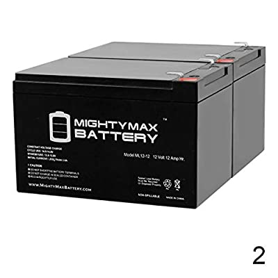 Mighty Max Battery 12V 12AH Battery for Pride Mobility Travel Pro 3-Wheel - 2 Pack Brand Product